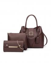 Simple Style Stitches Design Ladies Handbag Set