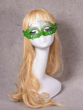 Gradient Color Sequined Powder Rhinestone Party Mask