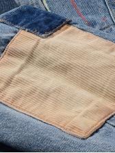 Indian Embroidery Splash Contarst Color Denim Jacket Men