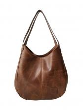 Minimalist Large Capacity Pu Women Shoulder Bag