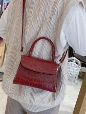 Minimalist Alligator Print Shoulder Bag With Handle