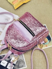 Glitter Sequined Powder Backpacks For Women