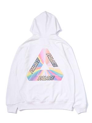 Rainbow Triangle Printed Lovers Pullover Hoodie
