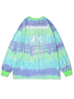 Hip Pop Tie Dye Long Sleeve Lovers Sweatshirts