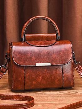 Simple Style Semicircle Handle Ladies Shoulder Bag