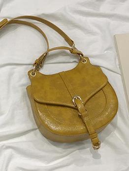 Round Edge Detachable Belt Crossbody Shoulder Bag