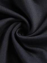 Halter Off Shoulder Long Sleeve Black Swimwear