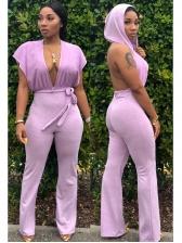 Deep V Neck Jumpsuits For Women