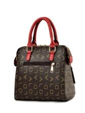 Letter Printed Tassel Pendant Ladies Large Handbags