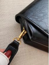 Metal Hasp Solid Color Crossbody Shoulder Bag