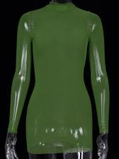Sexy Gauze See Through Long Sleeve Bodycon Dress