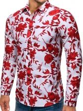 Hot Sale Turndown Neck Printed Shirts For Men