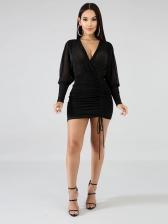 Sexy See Through v Neck Bodycon Dress