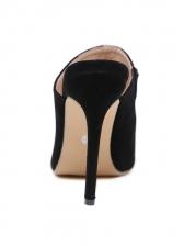 Pointed High Heel Slip On Slipper Shoes