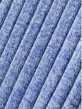 High Split Halter Knitting Sleeve Dress