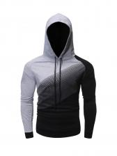 Contrast Color Long Sleeve Pullover Hoodie