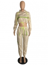 Sporty Cropped Hooded Women's Activewear Sets