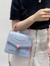 Candy Color Snake Hasp Square Chain Shoulder Bag