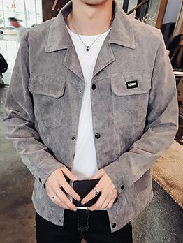 Versatile Solid Pockets Winter Jacket