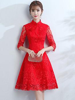 CheongsamDesign Stand Collar Ladies Dress