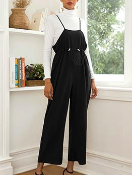 Fashion Black Wide Leg Jumpsuit