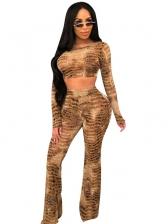 Animal Printed Long Sleeve Trouser Co Ord
