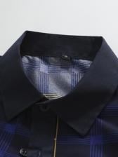Business Contrast Color Plaid Shirt