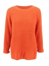 Casual Loose Knitting Orage Ladies Sweater