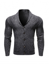 Solid Long Sleeve Knit Outerwear
