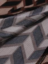 Geometric Printed Long Sleeve Graphic Tees
