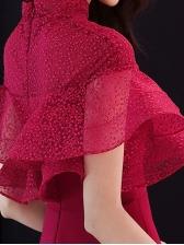Elegant Ruffle Maxi Party Dresses