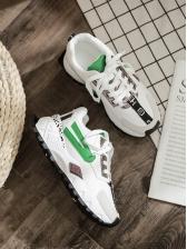Contrast Color Fashion Womens Sneakers