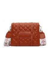 Sewing Thread Rhombus Pattern Belt Square Shoulder Bag