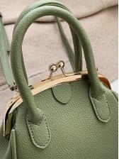Solid Color Pu Detachable Belt Crossbody Handbags