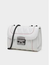 Simple Style Soft Pu Rhombus Chain Shoulder Bag