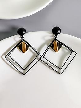 Fashion RhombusPattern Earrings For Women