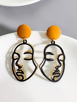 Individual Face Figure Pattern Earrings For Women