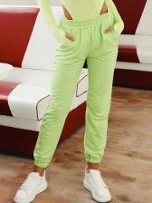 New Style Reflective Elastic Pants For Women