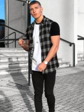 Leisure Plaid Polo t Shirts For Men