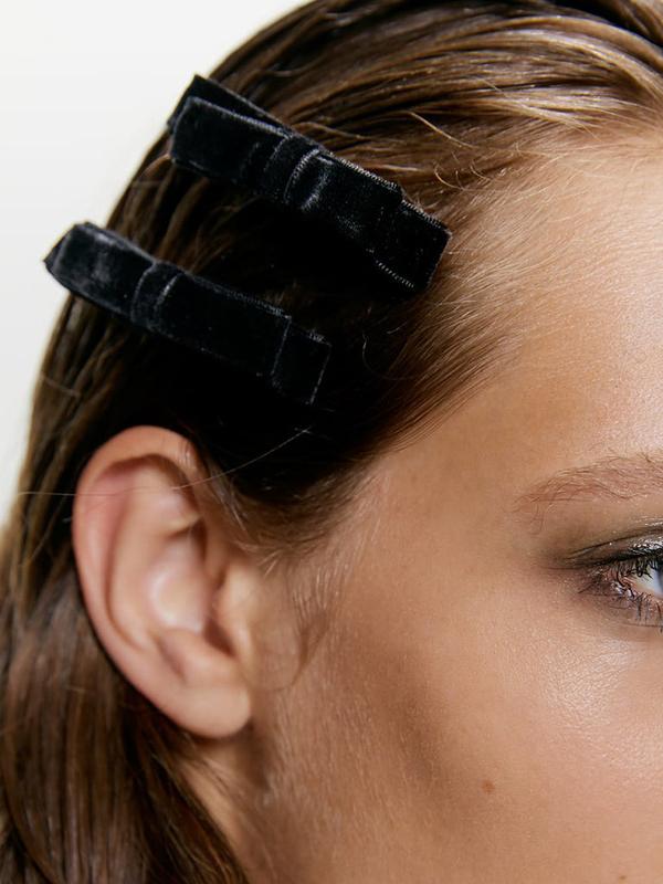 Fashion Solid Velvet Hair Clips