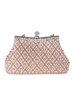Elegant Faux Pearls RhinestoneHandheld Evening Clutch Bags