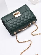 Diamond Pattern Golden Chain Crossbody Shoulder Bag