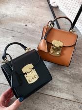 Casual Metal Hasp Detachable Belt Small Shoulder Bags