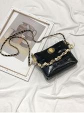 Alligator Print Silk Scarves Decor Pu Chain Shoulder Bag