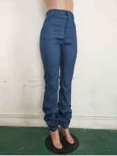 Classic Stacked Skinny Blue Jeans