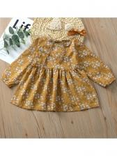 Lovely Floral Long Sleeve Baby Girl Dresses