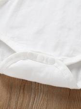 Lace Patchwork Solid Infant Romper