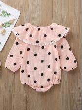 Cute Polka Dots Long Sleeve Baby Rompers