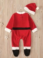 SantaClaus Pattern Newborn Baby Sleepsuit