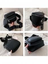 Multiple Zipper Wide Belt Casual Crossbody Shoulder Bag